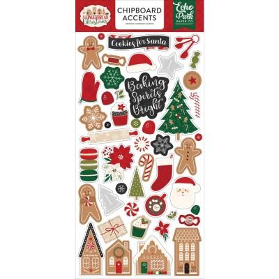 "PRÉCOMMANDE Echo Park - Chipboard «A Gingerbread Christmas» 6"" X 13"