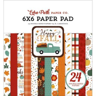 """Echo Park - Bloc de  papier double face «Happy Fall»  6"""" X 6""""   24 feuilles"""