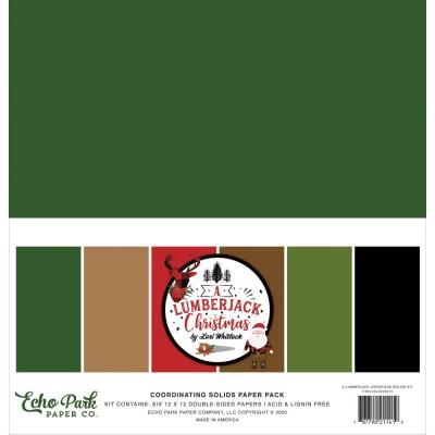 """PRÉCOMMANDE - Echo Park - Ensemble de papier «A Lumberjack Christmas» 12 """"X12"""" recto-verso 6 feuilles / Pqt"""