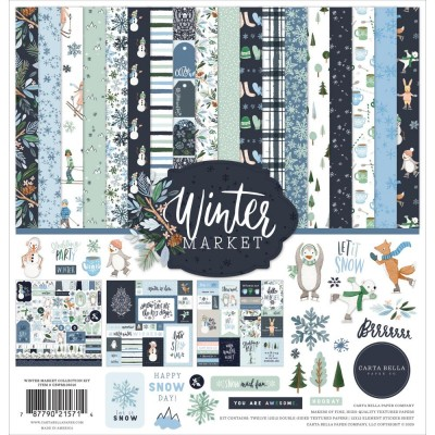 "Carta Bella - ensemble de papier «Winter market» 12"" X 12"" 12 feuilles"