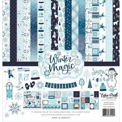 """Echo Park - ensemble de papier «Winter magic» 12"""" X 12"""" 12 feuilles"""