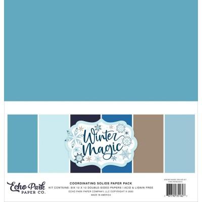 """Echo Park - ensemble de papier «Winter magic» 12"""" X 12"""" 6 feuilles"""