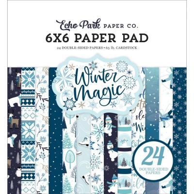 """Echo Park - Bloc de  papier double face «Winter Magic»  6"""" X 6""""   24 feuilles"""