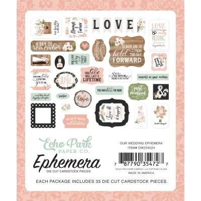 Echo Park - Éphéméra «Our Wedding Icons» ensemble 33pcs
