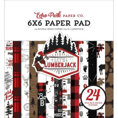 """Echo Park - Bloc de  papier double face «Let's Lumberjack»  6"""" X 6""""   24 feuilles"""
