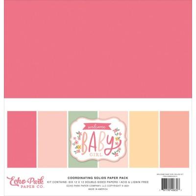 """Echo Park - ensemble de papier «Welcome Baby Girl» 12"""" X 12"""" 6 feuilles"""