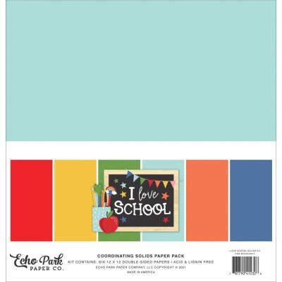 """Echo Park - ensemble de papier «I Love School» 12"""" X 12"""" 6 feuilles"""