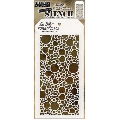 "Tim Holtz - Layered Stencil «Bubbles» 4.125"" X 8.5"""