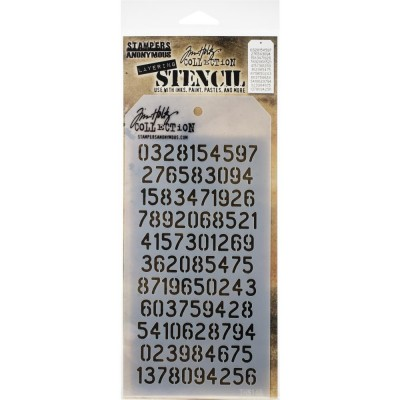 "Tim Holtz - Layered Stencil «Digits» 4.125"" X 8.5"""