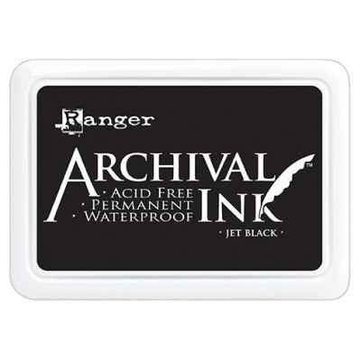"Ranger- Archival Jumbo Ink pad couleur «Jet Black» 4"" X 6"""