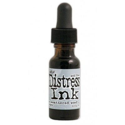 Distress ink Reinkers - Tim Holtz- couleur «Weathered Wood»
