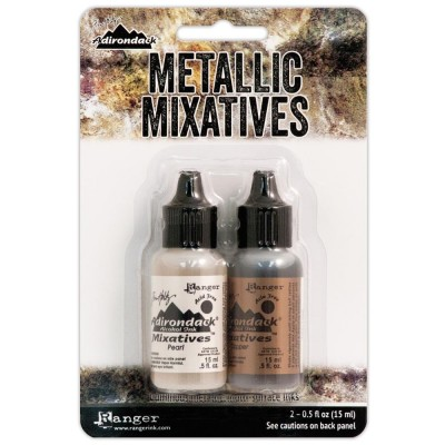 Ranger  - Ensemble «Perle et cuivre » Tim Holtz Alcohol Ink Metallic Mixatives .5oz 2/Pkg