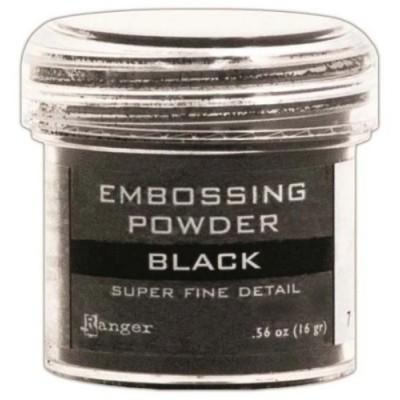 Ranger - Poudre à embosser couleur «Black super fine detail»