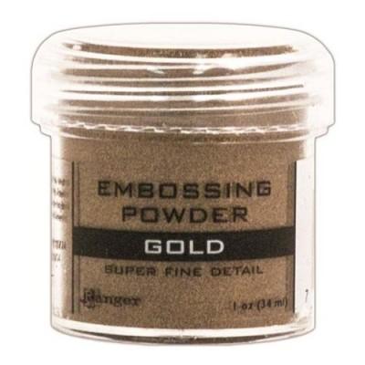 Ranger - Poudre à embosser couleur «Gold super fine detail»
