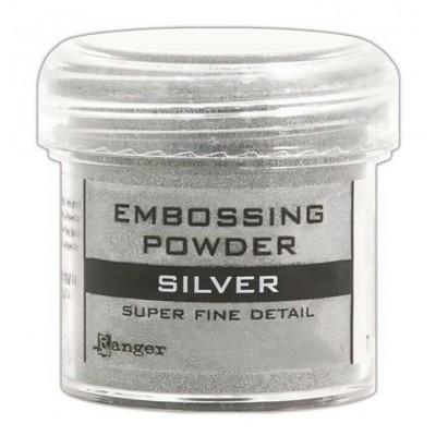 Ranger - Poudre à embosser couleur «SIlver super fine detail»