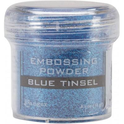 Ranger - Poudre à embosser couleur «Blue Tinsel»