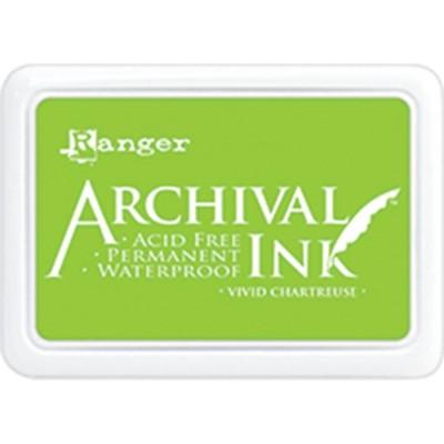 Ranger - Archival Ink pad couleur «Vivid Chartreuse»