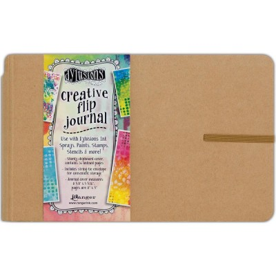 "Ranger - Journal «Dylusions Creative» couleur craft 8.5""X5.5"" format horizontal"