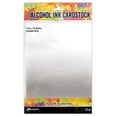 """Ranger - Paquet de 10 cartons 5"""" X 7"""" couleur Alumium brossé pour «Alcohol Ink»"""