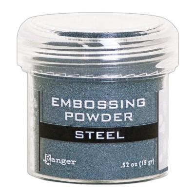 Ranger - Poudre à embosser couleur «Steel»