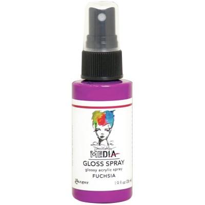Dina Wakley -  «Acrylic Gloss Sprays» couleur «Fuchsia» 2 oz