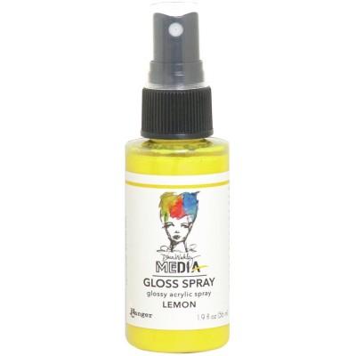 Dina Wakley -  «Acrylic Gloss Sprays» couleur «Lemon» 2 oz
