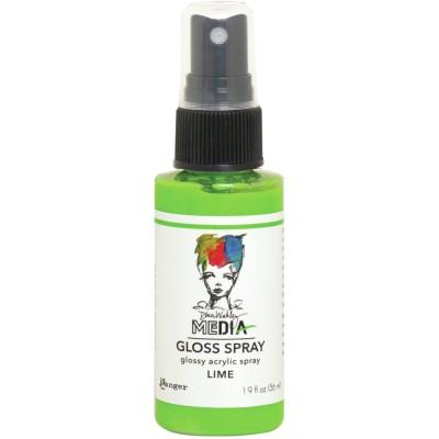 Dina Wakley -  «Acrylic Gloss Sprays» couleur «Lime» 2 oz