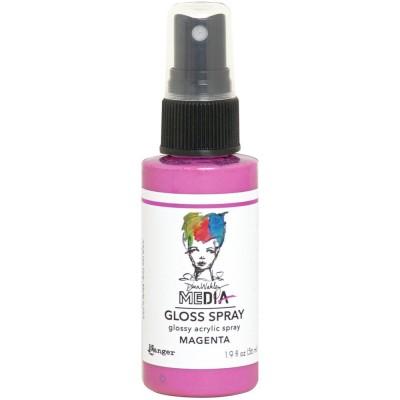 Dina Wakley -  «Acrylic Gloss Sprays» couleur «Magenta» 2 oz