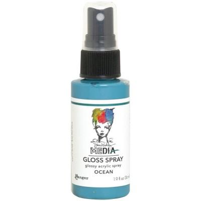 Dina Wakley -  «Acrylic Gloss Sprays» couleur «Ocean» 2 oz