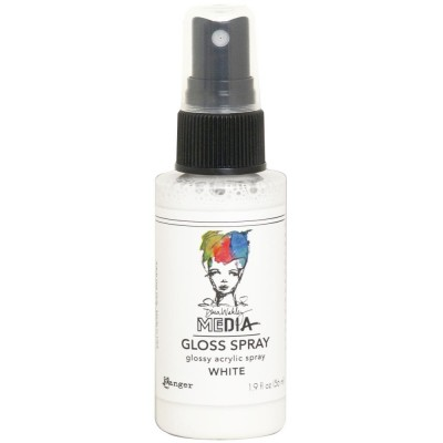 Dina Wakley -  «Acrylic Gloss Sprays» couleur «White» 2 oz