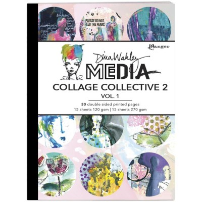 Dina Wakley - Album «Media Mixed Media Collage Collective 2» 30 feuilles