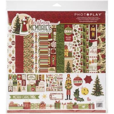 """Photo play  - «Christmas Memories» Collection de papier 12"""" X 12"""" recto-verso 12 feuilles."""