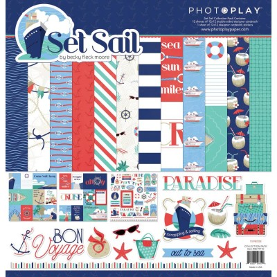 "PhotoPlay - Bloc de  papier double face «Set Sail» 12""X 12""   12 feuilles"