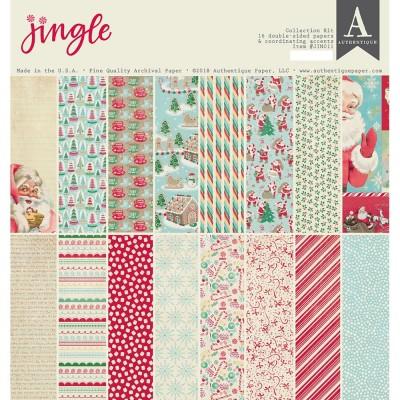 """Authentique - Bloc de papier 12"""" X 12"""" double face «Jingle» 16 feuilles"""