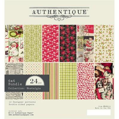 """Authentique - Bloc de papier 6"""" X 6"""" double face «Nostalgia» 24 feuilles"""