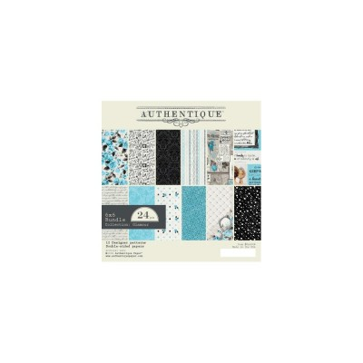 "Authentique - Bloc de papier 6"" X 6"" double face «Glamour» 24 feuilles"