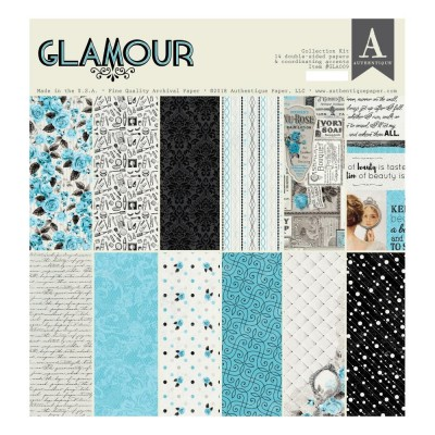 "Authentique - Bloc de papier 14 feuilles 12"" X 12""  double face «Glamour»"