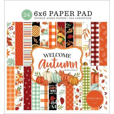 """Carta Bella - Bloc de  papier double face «Welcome Autumn»  6"""" X 6""""   24 feuilles"""