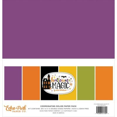"Echo Park - Bloc de  papier  «Halloween Magic»  12"" X 12""   6 feuilles"
