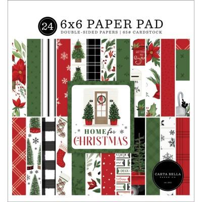 """Carta Bella - Bloc de  papier double face «Home For Christmas»  6"""" X 6""""   24 feuilles"""