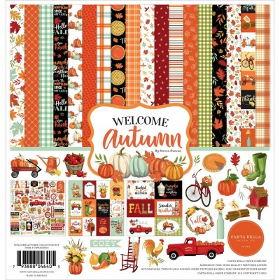 "Carta Bella - Ensemble de papier «Welcome Autumn»  12"" X 12"""