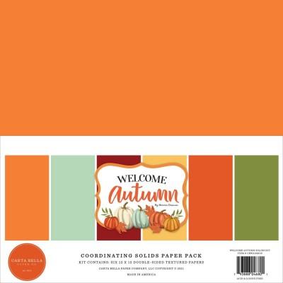"""Carta Bella - Bloc de papier «Welcome Autumn, 6 Couleurs»  12"""" X 12""""   6 feuilles"""