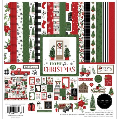 "Carta Bella - Ensemble de papier «Home For Christmas»  12"" X 12""   12 feuilles"