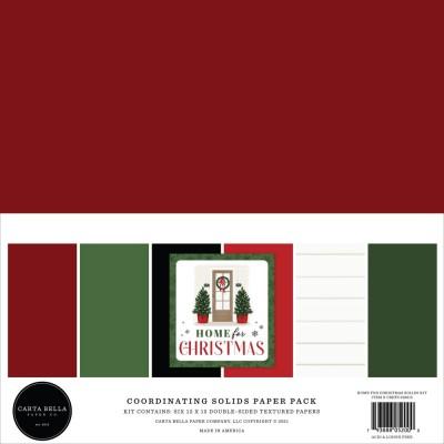 """Carta Bella - Bloc de papier «Home For Christmas, 6 Couleurs»  12"""" X 12""""   6 feuilles"""