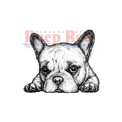 "Deep Red - Estampe «French Bulldog»  2.1"" X 1.75"""
