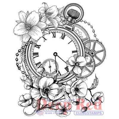 "Deep Red - Estampe «Blossom Time» 2.75"" X 3"""