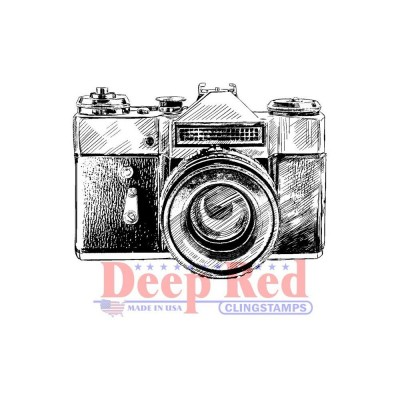 "Deep Red - Estampe «Vintage Camera»  2.1"" X 1.6"""