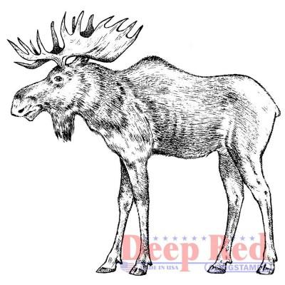 "Deep Red - Estampes «Moose» 3.2"" X 3"""