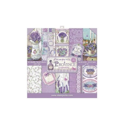 "Stamperia  -  Papier 12"" X 12"" «Provence», 10 feuilles double- face"