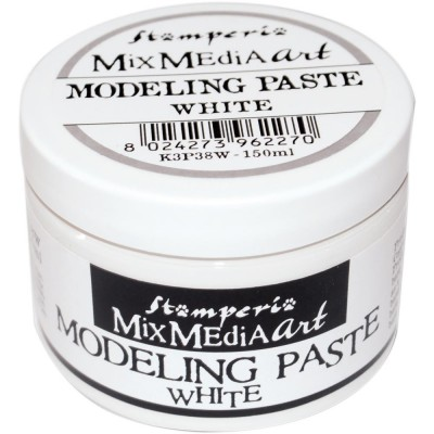 Stamperia - Modeling Paste couleur «White» 150  ml